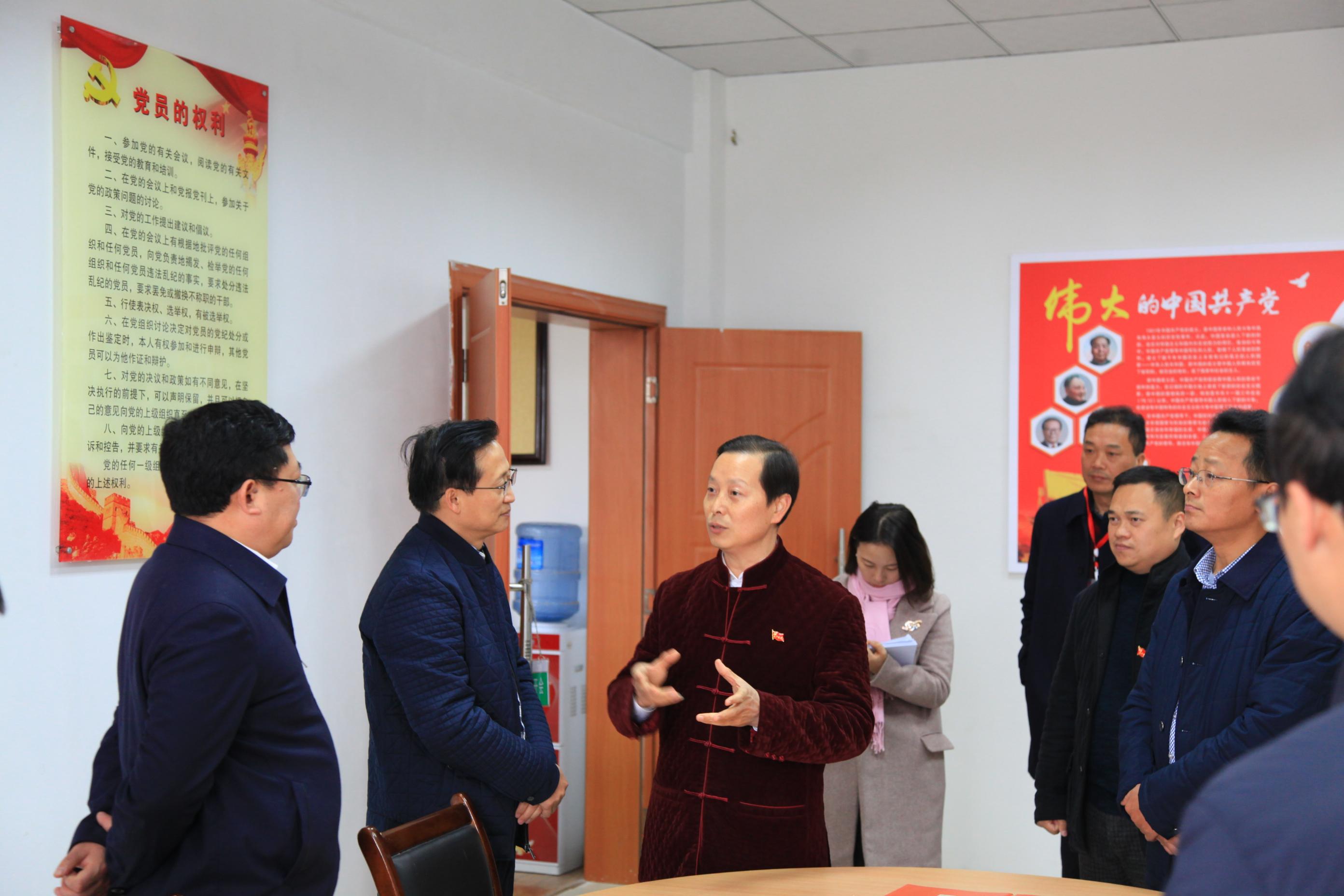 市委常委、组织部部长徐斌到我区调研